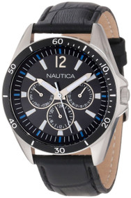 Nautica NST 07 Flags Classic Analog Leather Band Men's Watch N12631G