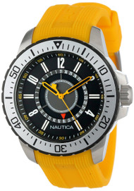 Nautica NST 15 Date Yellow Rubber Band Unisex Watch N14663G