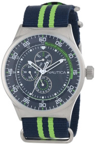 Nautica NST 17 Multifunction Nylon Band Unisex Watch N14666G