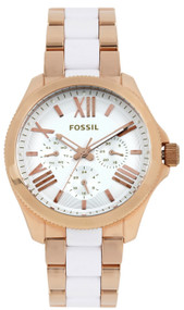 Fossil Cecile Multi-Function White Dial Rose Gold Women's Watch AM4546