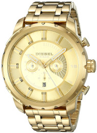 Diesel Stronghold Timeframe AW16 Chronograph Gold PVD Men Watch DZ4376