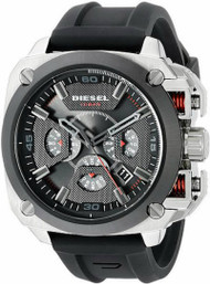 Diesel BAMF Timeframe AW 16 Chronograph Black Rubber Men Watch DZ7356