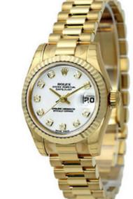 Rolex DateJust 31 MOP DIA DI YG CS President Links Women Watch 178278D