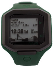 Nixon Ultratide Surfline Digital LCD Olive Silicone Watch A4762099-00