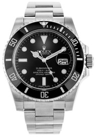 Rolex Submariner 40 BLK DI Dot Markers Oyster Links Men Watch 116610LN