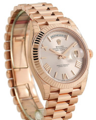 Rolex Perpetual Day Date 40 Sundust Fluted RG President Watch 228235