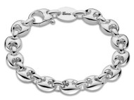 Gucci Marina Chain Logo Engraved Sterling Silver Bracelet YBA325830001