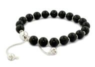 Gucci Boule Britt Black Wooden Beads Silver Bracelet YBA310541003