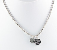 Gucci Boule Ball Chain Two Pendants Silver RP Necklace YBB390992001