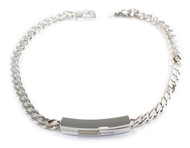 Gucci Thin Gourmette Chain Sterling 925 Silver Bracelet YBA223738001