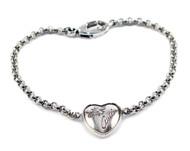 Gucci Flora Heart Aureco Silver Bracelet YBA341953001 YBA34195300107