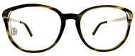 Cartier Santos Smoked Tortoiseshell Composite Men Eyeglass EYE00136