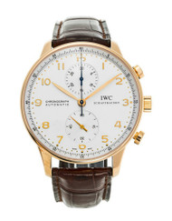 IWC Portuguese Chronograph 18KT Rosegold Automatic Men Watch IW371402