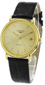 Longines Presence PVD Leather Automatic Watch L48212322/L4.821.2.32.2