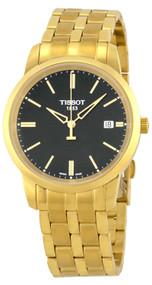 Tissot Classic Dream Black Dial Gold PVD SS Men's Watch T0334103305101