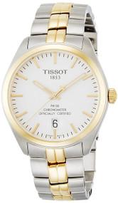 Tissot PR100 COSC Silver Dial Two-Tone PVD Quartz Watch T1014512203100