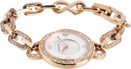 Swarovski Aila White Clear Crystal Pavé Rose Gold Tone Watch 1094379