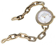 Swarovski Aila SLR Sunray Dial 31MM Yellow Gold Bracelet Watch 1124151