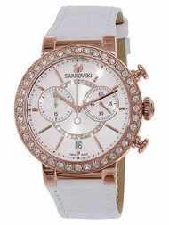Swarovski Citra Sphere Chronograph White Rose Gold Tone Watch 5080602