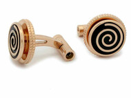 Montblanc Jazz Great Characters Red Gold PVD Steel Cuff Links 114780