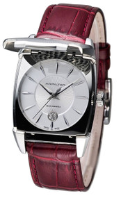 Hamilton Flintridge Lady Auto LTD ED Burgundy Leather Watch H15415851