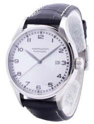 Hamilton American Classic Valiant Auto BLK Leather Men Watch H39515753