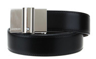 Montblanc Rectangular Tube Mat Plate Buckle Reversible Men Belt 114424