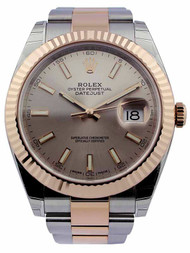 Rolex Datejust 41 Sundust Dial Index Marker Fluted Oyster Watch 126331