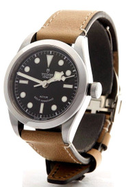 Tudor Heritage Black Bay 36 Black Dial Aged Leather Auto Watch 79500