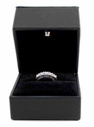 14K White Gold 1.03 Carat Round Diamond Prong  Set Anniversary Ring