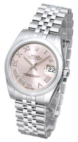 Rolex Datejust 31 Pink Dial Roman Domed Jubilee SS Women Watch 178240