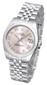 Rolex Datejust 31 Pink Dial Roman Domed Jubilee SS Women Watch 178240