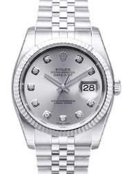 Rolex Datejust 36 Silver Dial DIA Fluted Jubillee Unisex  Watch 116234