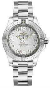 Breitling Colt 33 MOP Dial 8 Diamonds Women Watch A7738811/A769/175A