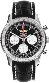 Breitling Navitimer 01 Chrono Auto Leather Watch AB012012/BB01/744P
