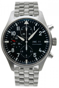 IWC Pilot Black Chronograph Steel Automatic Men's Watch IW377710