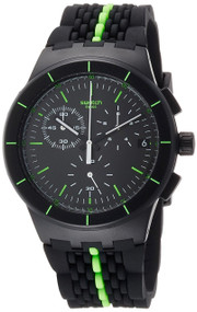 Swatch LASER TRACK Chronograph Black Green Rubber Band Watch SUSB409