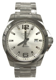 Longines Conquest Silver Dial SS 43MM Watch L37604766 / L3.760.4.76.6