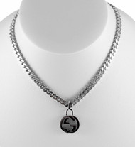 Gucci Interlocking G 925 Silver Necklace YBB356286001 YBB35628600100U