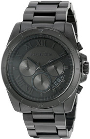 Michael Kors Brecken Chronograph Black Dial Black SS Men Watch MK8482
