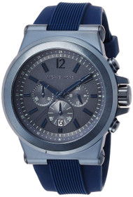 Michael Kors Dylan Chronograph Rubber Band 48MM Blue Men Watch MK8493