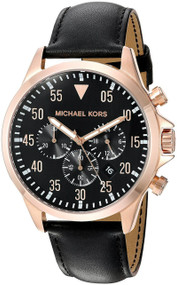 Michael Kors Gage Chronograph Rose gold Steel Black Men Watch MK8535