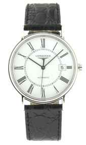 Longines Presence 38mm Leather Auto Watch L49214112 / L4.921.4.11.2