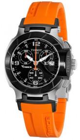 Tissot T Race Chronograph Orange Silicone Women Watch T0482172705700