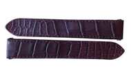 Cartier Burgundy Alligator Leather Authentic Strap KD68JS49