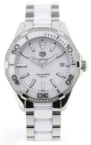 Tag Heuer Aquaracer White Dial 60 Diamonds Women Watch WAY131H.BA0914
