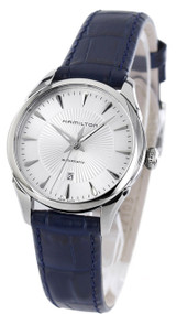 Hamilton Jazzmaster 30MM Blue Leather Automatic Women Watch H42215651