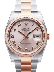 Rolex Datejust 36 Pink Fluted 18ct Everose Gold Oyster Watch 116231