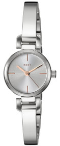 DKNY Ellington Silver Sunray Dial Steel Bangle Women Watch NY2627