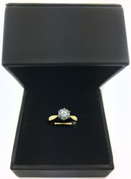 14K Yellow Gold 1.17Carat Round Brilliant Diamond I1 G Solitaire Ring
